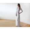 Women - Apparel - Bridal - Shop Ivory Minimalist Maxi Wedding Dress with Slit 1045 from Style&Pose online