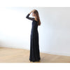 Women - Apparel - Bridal - Shop Off-The-Shoulder Black Floral Lace Long Sleeve Maxi Dress from Style&Pose online