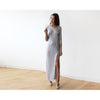 Women - Apparel - Bridal - Shop Glamorous Silver Long Sleeve Pleated Maxi Dress 1123 from Style&Pose online