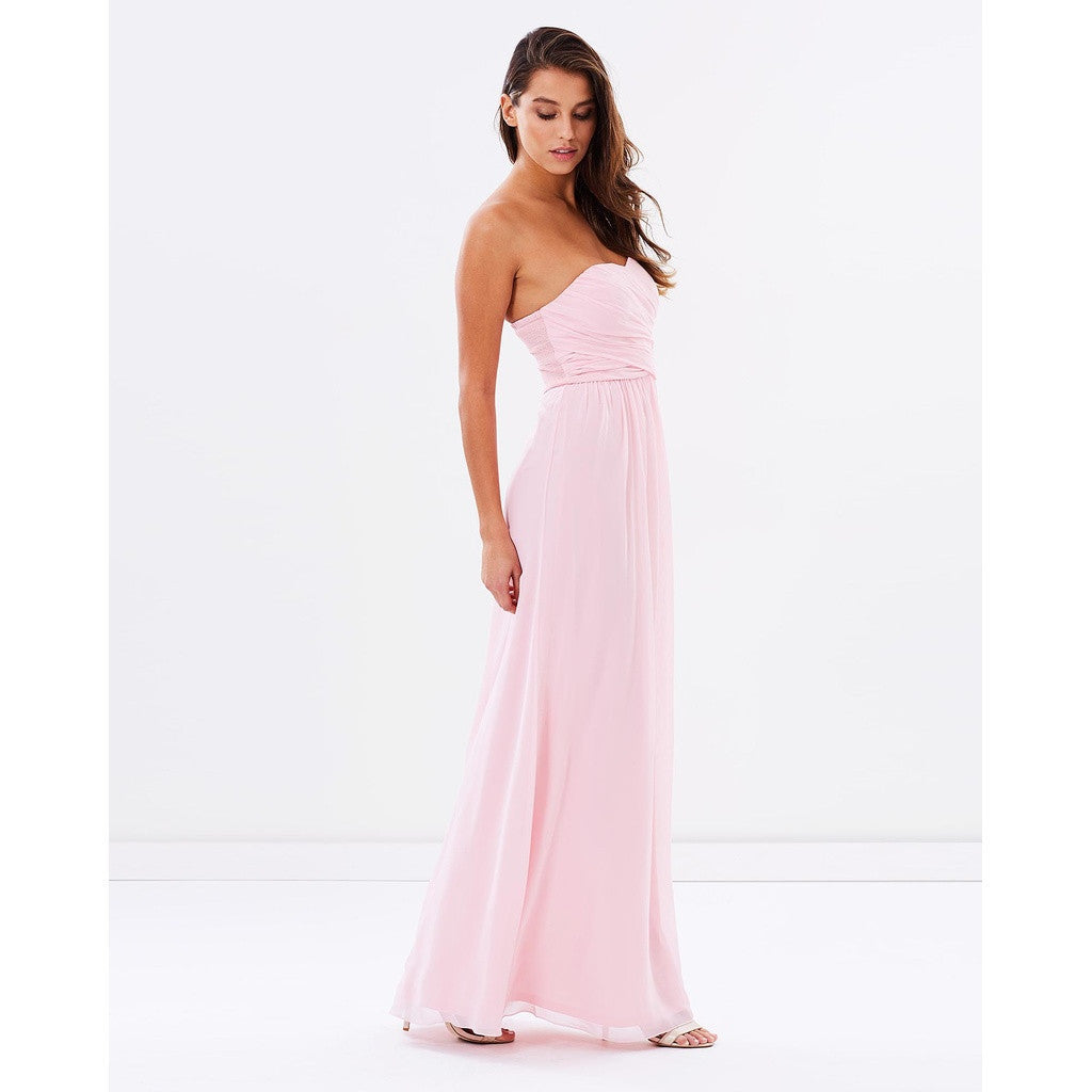 Women - Apparel - Dresses - Evening - Shop Strapless Chiffon Evening Dress - Pink from Style&Pose online