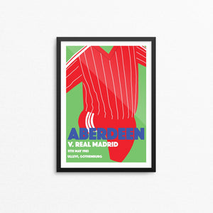 Aberdeen v Real Madrid Print