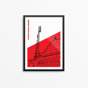 Pittodrie Floodlights Art