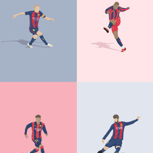 Barcelona Player Artistic Collage