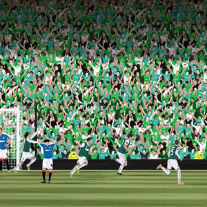 Hibs Scottish Cup Print