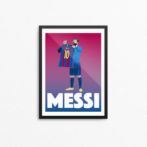 Lionel Messi Poster Print
