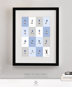 Framed Rangers Legends Print
