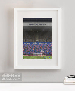 Rangers - Ibrox Flags and Banners Print - Terrace Menswear