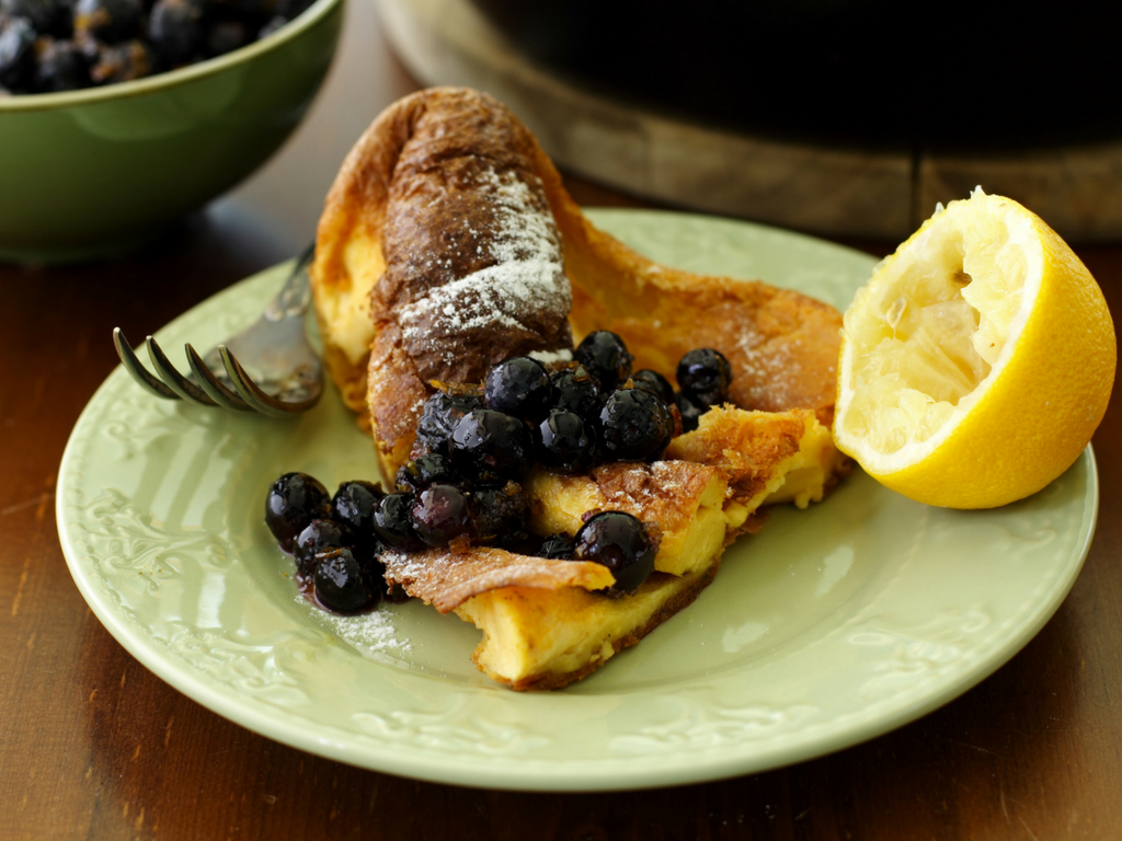 Lemon & Blueberry Dutch Baby Pancake