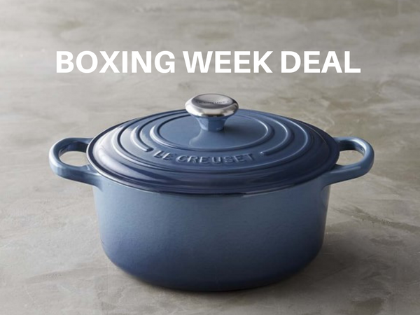 Incredible Boxing Week Sale: Select Marine Blue Le Creuset