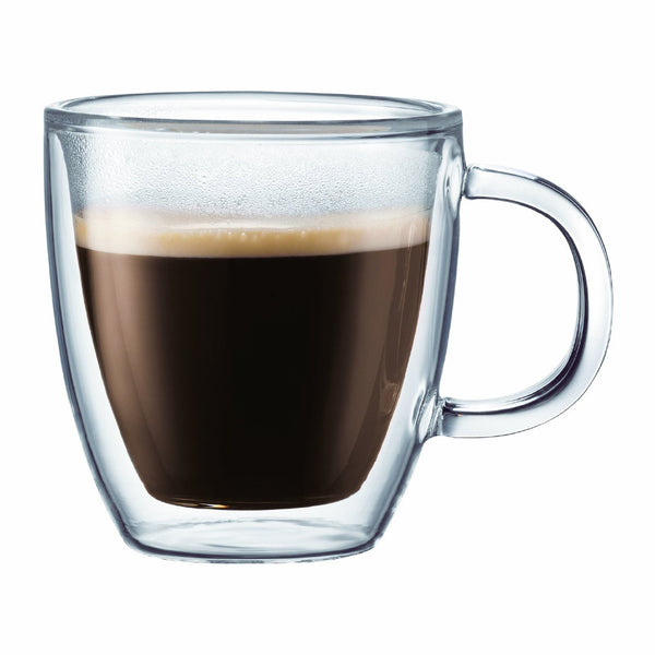 Bodum Bistro Double Wall Thermo-Glass Mugs 15 oz
