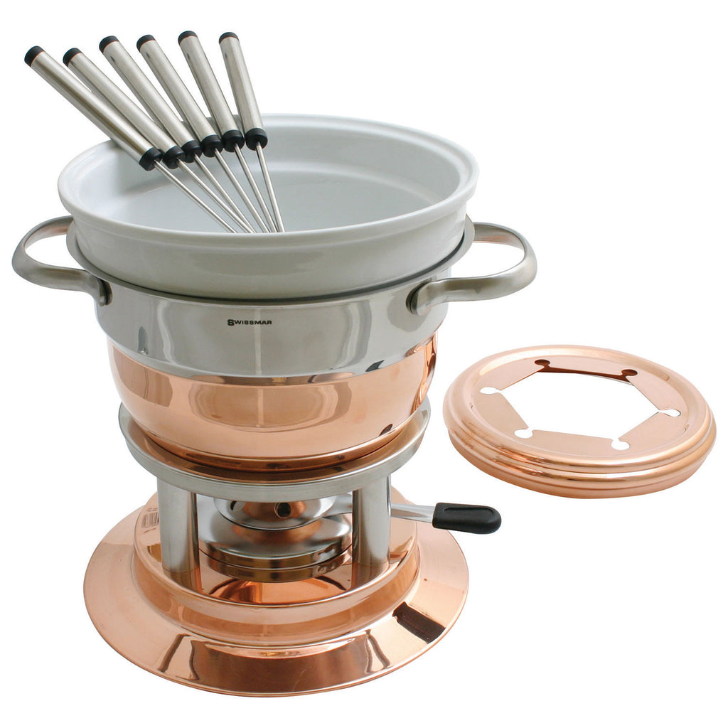 Luasanne 11 pc Copper Fondue Set