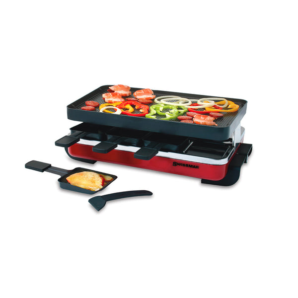 8 Person Classic Raclette Party Grill - Cast Iron
