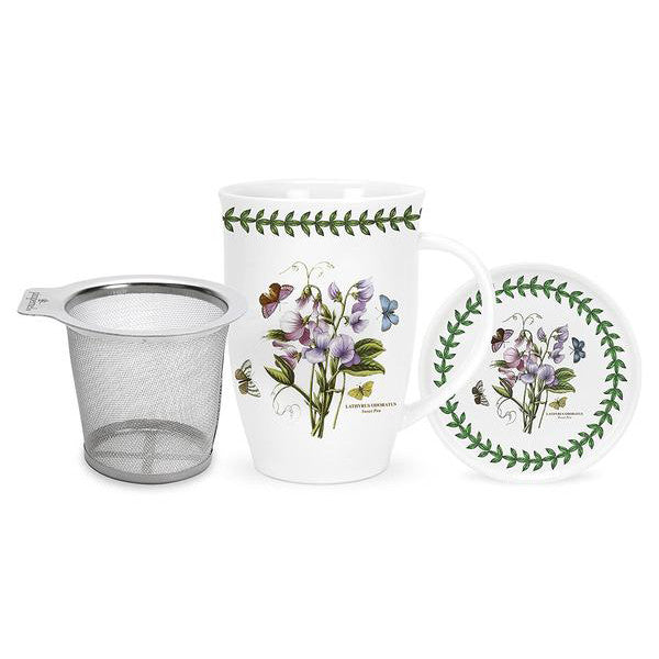 Portmeirion Botanic Garden Mug with Tea Strainer and Coaster