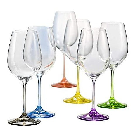 Bohemia Rainbow Wine Glasses 350ml