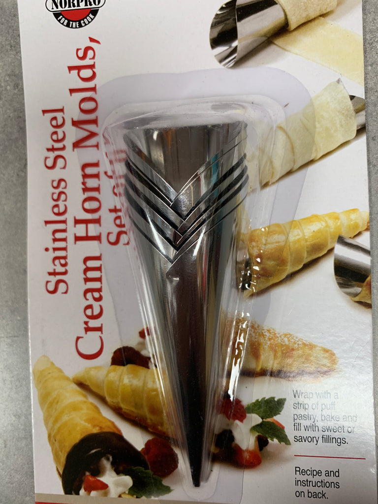 Stainless steel cream Horn moulds set of six