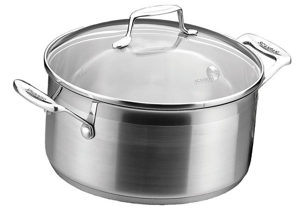Scanpan 4.8 L Dutch oven with lid impact
