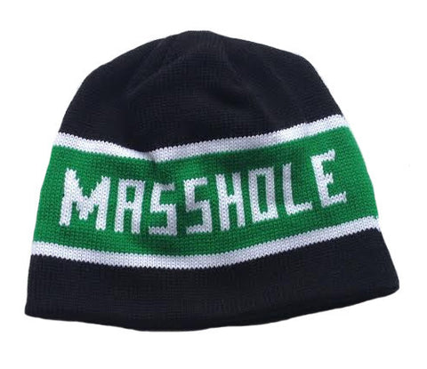 Masshole® - Black & Green Winter Hat