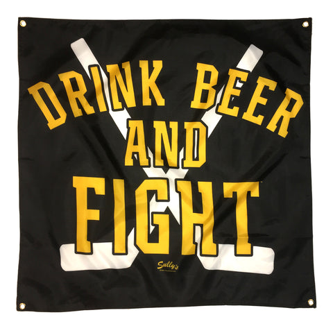 Drink Beer and Fight Banner