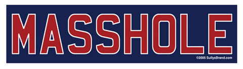 Masshole - Red & Blue Sticker
