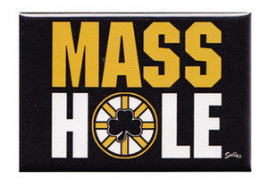 Masshole - Black & Gold Magnet