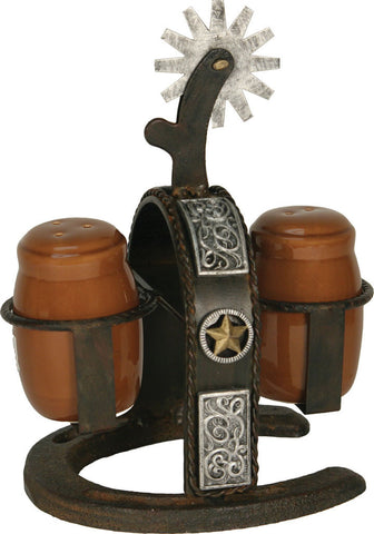 Cast Iron Spur Salt/Pepper Shaker Set