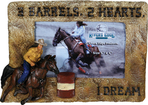 Barrel Racer Picture Frame