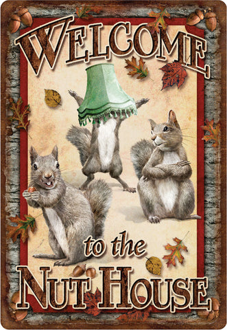 "12"" x 17"" Tin Sign - Nut House"