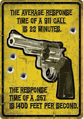 "12"" x 17"" Tin Sign - Average Response Time"