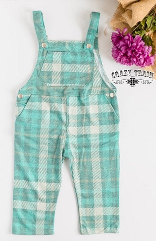 Keep It Teal Overalls - Baby