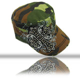 Camouflage Cadet Cap With Cross