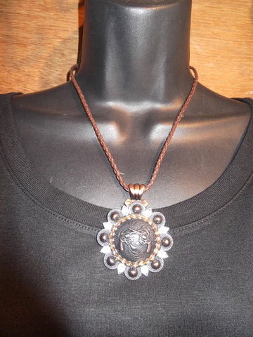 Crossed Pistols Concho Necklace - Dally Down Designs