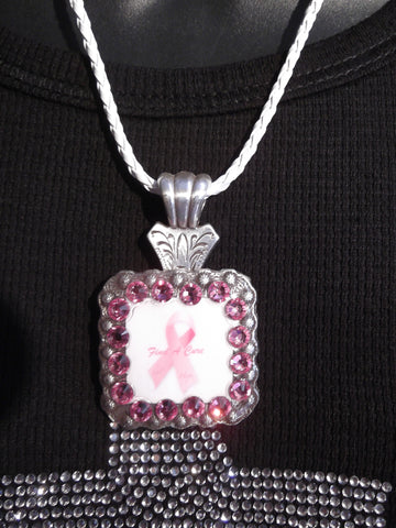 Breast Cancer Concho Necklace - Dally Down Designs