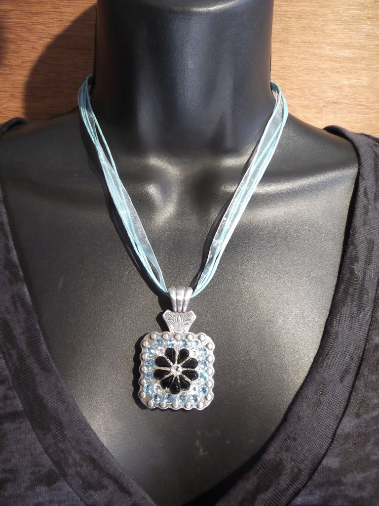 Crystal Flower Concho Necklace - Dally Down Designs