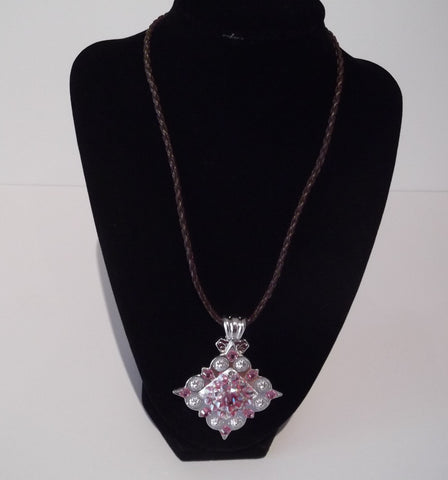 Shiny Silver Square Berry Concho Necklace - Dally Down Designs