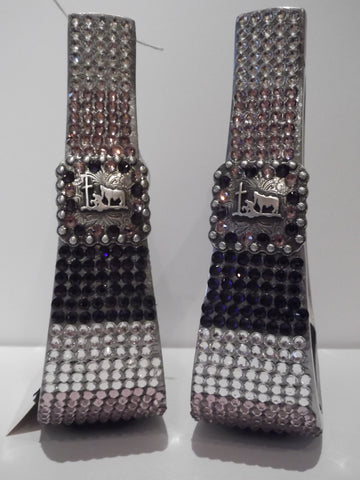 Custom Bling Aluminum Barrel Stirrups