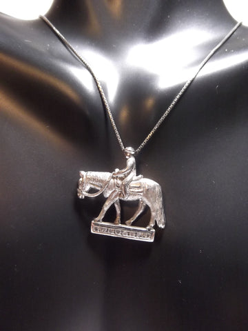 Kelly Herd Sterling Silver Rider Necklace