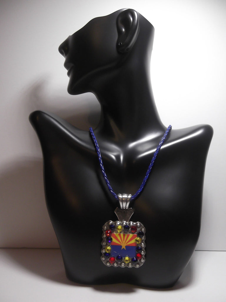 Arizona Flag Concho Necklace - Dally Down Designs