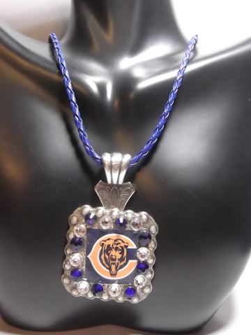 Chicago Bears Concho Necklace - Dally Down Designs