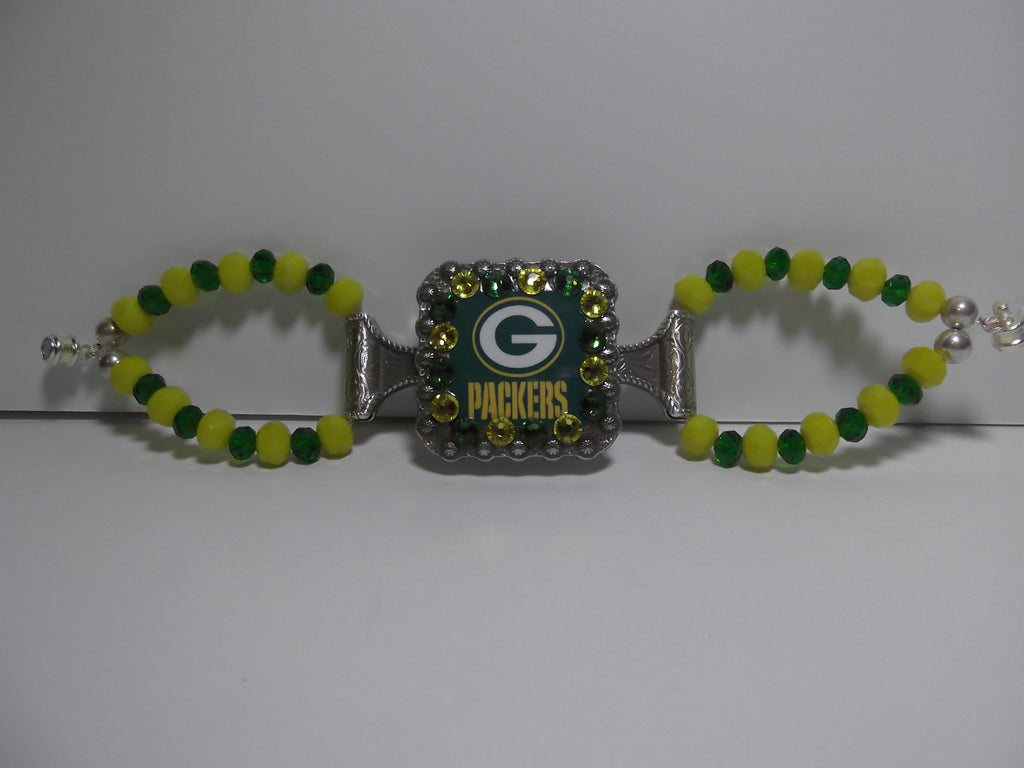Custom Concho Bracelet - Packers