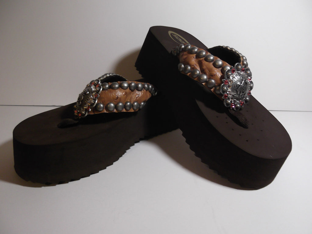 8f4be6a80 Custom Cowgirl Flip Flop - The Jasmine – Dally Down Western Supply