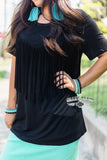 Fringe In Low Places Top - Black