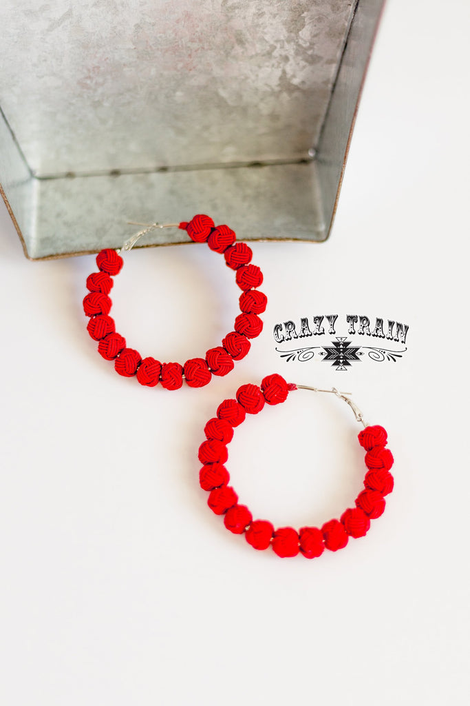 Rock With You Earrings - Red