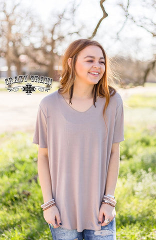 Butter Basic Tee - Taupe
