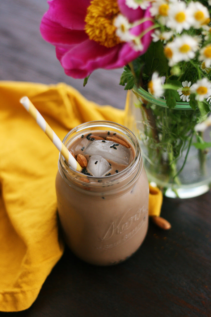 Lactation Recipes: Iced Chocolate Sesame Almond Milk