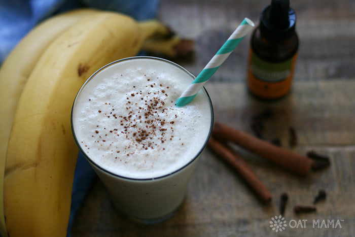Banana Chai Spiced Lactation Smoothie