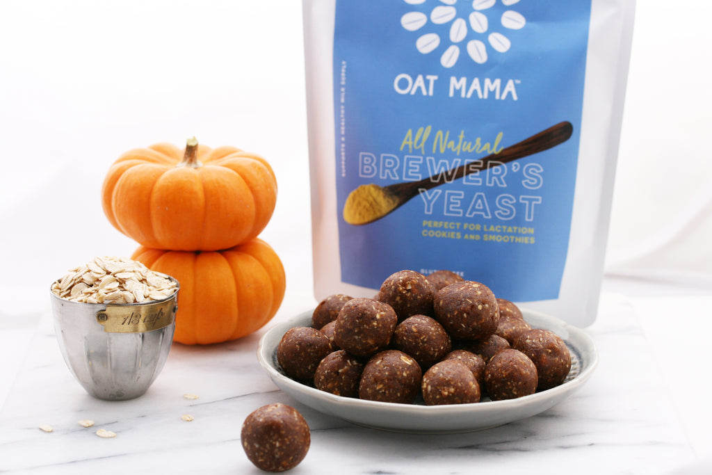 Easy Lactation Pumpkin Pie Energy Balls