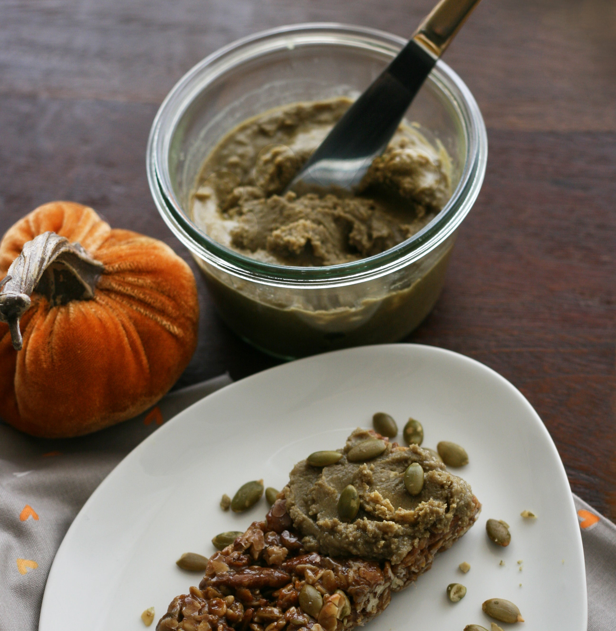 Lactation Recipes: Roasted Pumpkin Seed Butter with Fenugreek