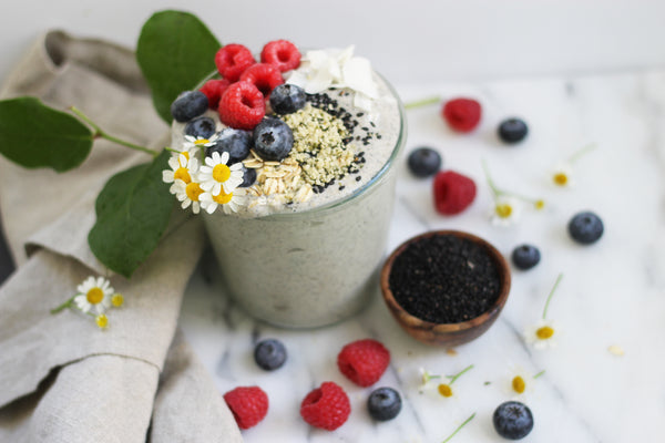black sesame lactation smoothie