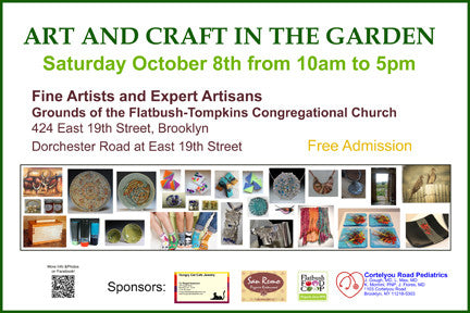 ART AND CRAFT IN THE GARDEN - Saturday October 8th.