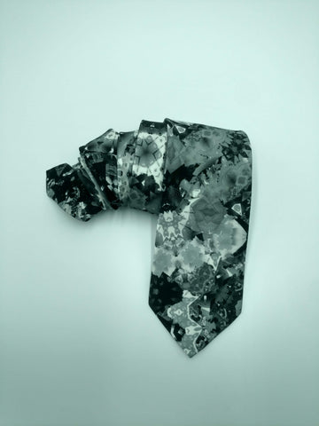 Black & White Satin Silk Tie
